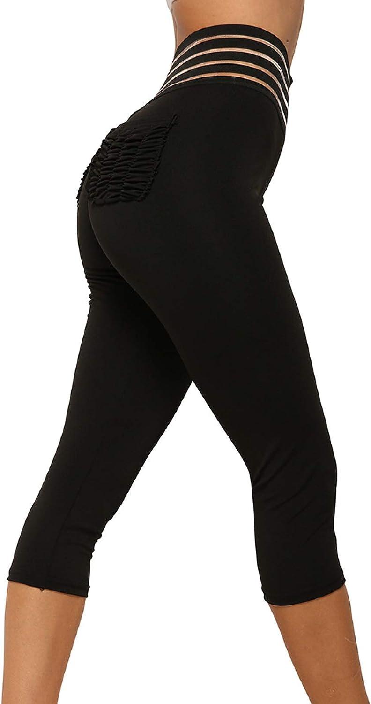 NIGHTMARE Leggings de Entrenamiento recortados y Ajustados para Mujer, Mallas activas para Correr, Pantalones de Yoga, Mallas para Correr para Mujeres, Mujeres, Estiramiento