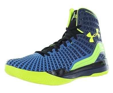 size 40 1ff65 af6d8 Under Armour Boy's ClutchFit Drive Basketball Shoe Academy/Elc. Blue/HV  Yellow Size