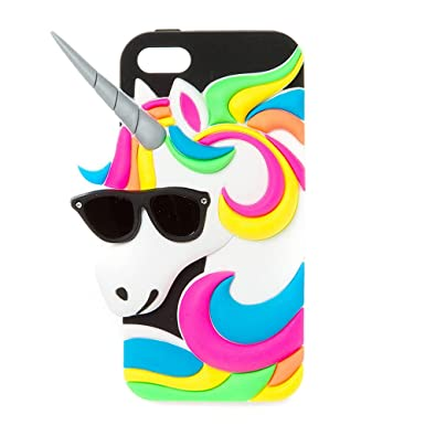 new arrivals d3f33 2600b Claire's Girl's Neon Unicorn Phone Case.