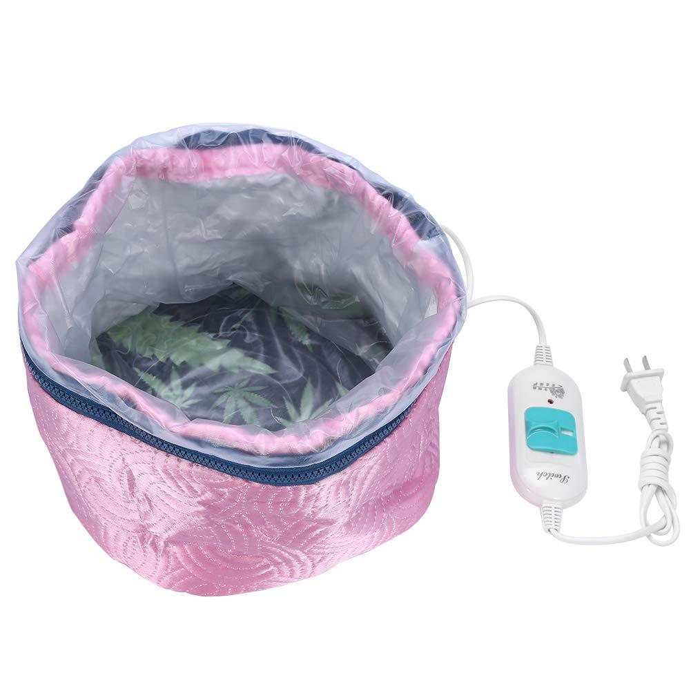Duevin Oil Treatment Hair Steamer Cap Adjustable Temperature Heating Cap Detachable Hair Mask Heating Cap Hair Caring Tool Electric Steamer Hair Cap (Pink)
