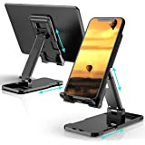 DEAMOS [2020 Upgraded] Cell Phone Stand, Multi-Angle Adjustable Desk Cell Phone Holder Mount Compatible with All…