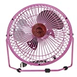 Starsource Adjustable Four Fan Blade 6 Inch USB Mini Desktop Fan With ON/OFF Switch ( Pink )
