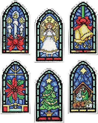 Design Works Count Plastic Canvas Kit ~ STAINED GLASS Ornaments #5909]()