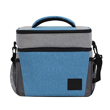 2e540afbd111 Amazon.com: BAIEDIII Oxford Lunch Bag Insulated Lunch Box for Women ...