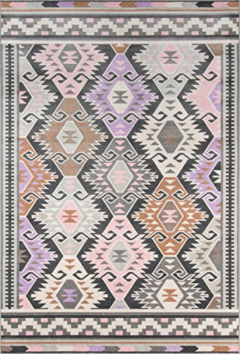 Novogratz Terrace Collection Boho Holiday Indoor/Outdoor Area Rug, 3'3
