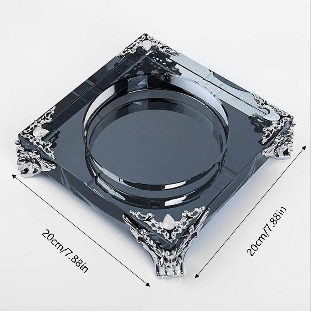 Color : Gold Ashtray Gold European Crystal Glass Ashtray Creative Personality Large Living Room Office Cafe Hotel Rooms Ashtray Ash Tray