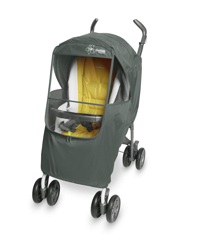 Manito Elegance Plus Stroller Weather Shield/Rain Cover, Gray