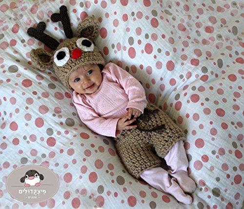 Newborn crochet raindeer hat (Raindeer Hats)