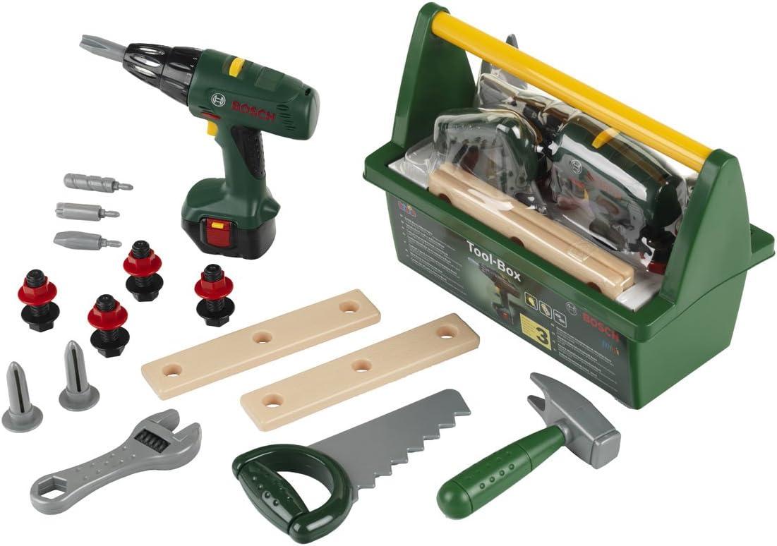 Theo Klein Tool Box Mallette Bosch Avec Ixolino, Color Verde (8429)