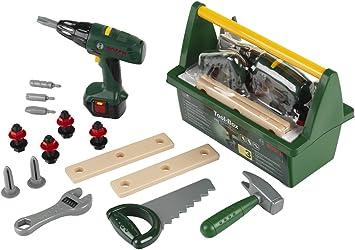 Oferta amazon: Theo Klein 8429 Caja de herramientas Bosch, Con sierra, martillo, alicates y mucho más, Destornillador eléctrico a pilas, Medidas: 31 cm x 16.5 cm x 22.5 cm, Juguete para niños a partir de 3 años