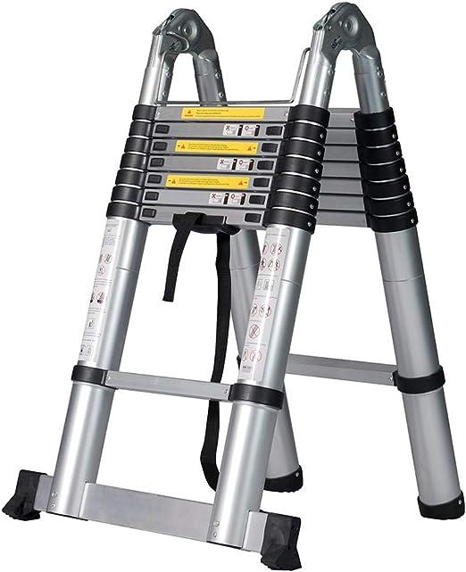 Ylmhe Escalera Telescópica Extensible 5.2M De múltiples Fines Aluminio Plegable Bricolaje Extensión Escalera de Tijera (Capacidad de Carga 150kg): Amazon.es: Hogar