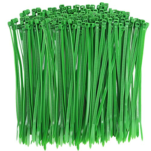 Livder Green Heavy Self-Locking Nylon Zip Cable Ties, 6 Inch (100 Pieces)