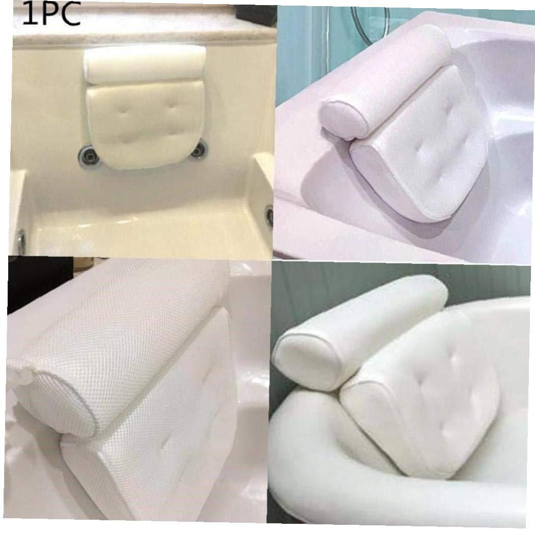 Mesh Traspirante 3D Spa Bagno Cuscino con Ventose Posteriore del Collo Supporto Spa Cuscino per la casa Vasca da Bagno Accersories