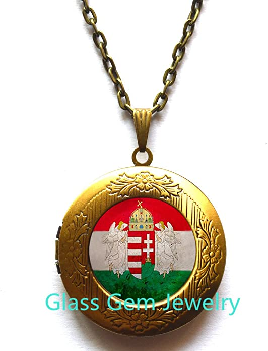 country necklace Hungary jewelry Hungary charm Hungary pendant Hungary gift Hungary necklace