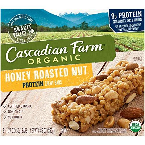 Cascadian Farm, Organic Nut Protein Chewy Bars, Honey Roaste