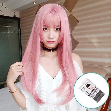 Amazon.com Kmuyzsg Wigs Wig Female Long Hair Straight Hair