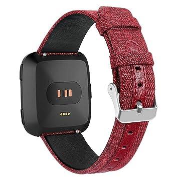 AUTOECHO - Correa de Repuesto para Reloj Inteligente Fitbit Versa Sport con Hebilla y Correa de