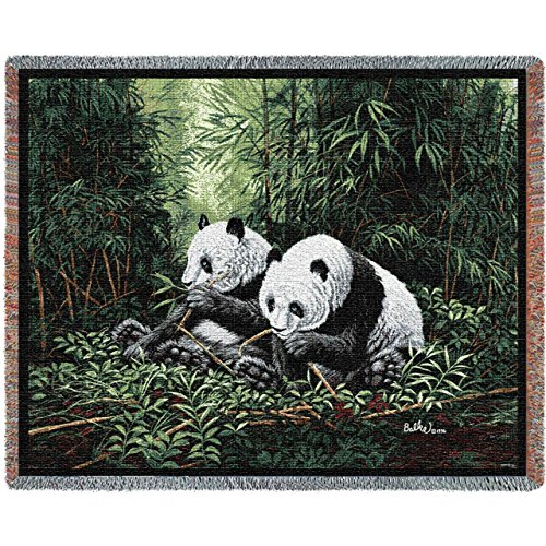 """Pure Country Weavers """"Pandas Blanket"""" Tapestry Throw"""