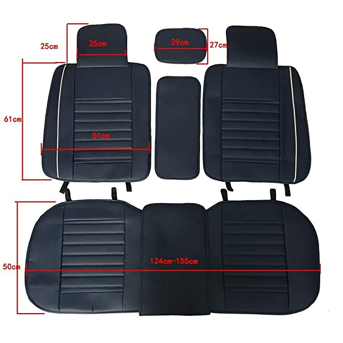 JOJOHUN Car Front Seat Covers Nonslip and Breathable Van Seat Covers Only Fit for Detachable Headrest Beige- 1 seat in front seat