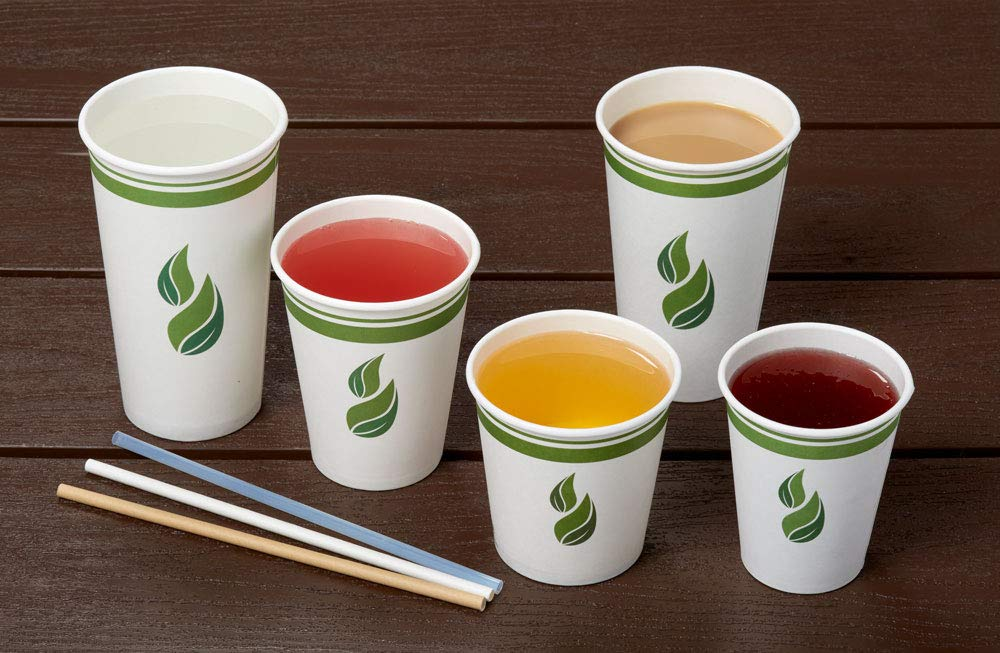 Eco Guardian 12 Ounce Compostable PLA-Lined Drinking Cup, White, 1000 Pack by Eco Guardian (Image #3)