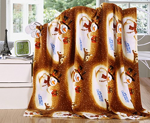 Snowman Throw Fleece Blanket