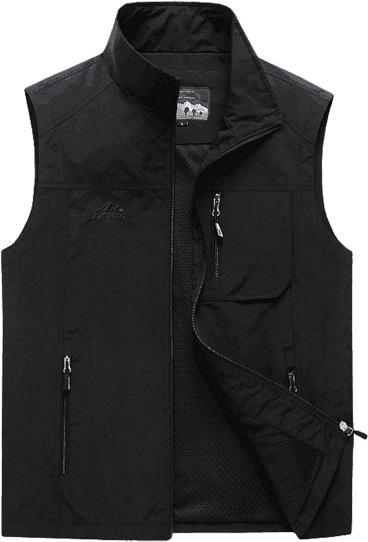 Flygo Men's Casual Outdoor Lightweight Quick Dry Travel Safari Fishing Vest