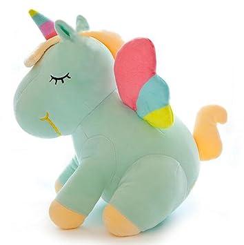 Amazon Com Smilesky Rainbow Unicorn Stuffed Animal With Wings Super