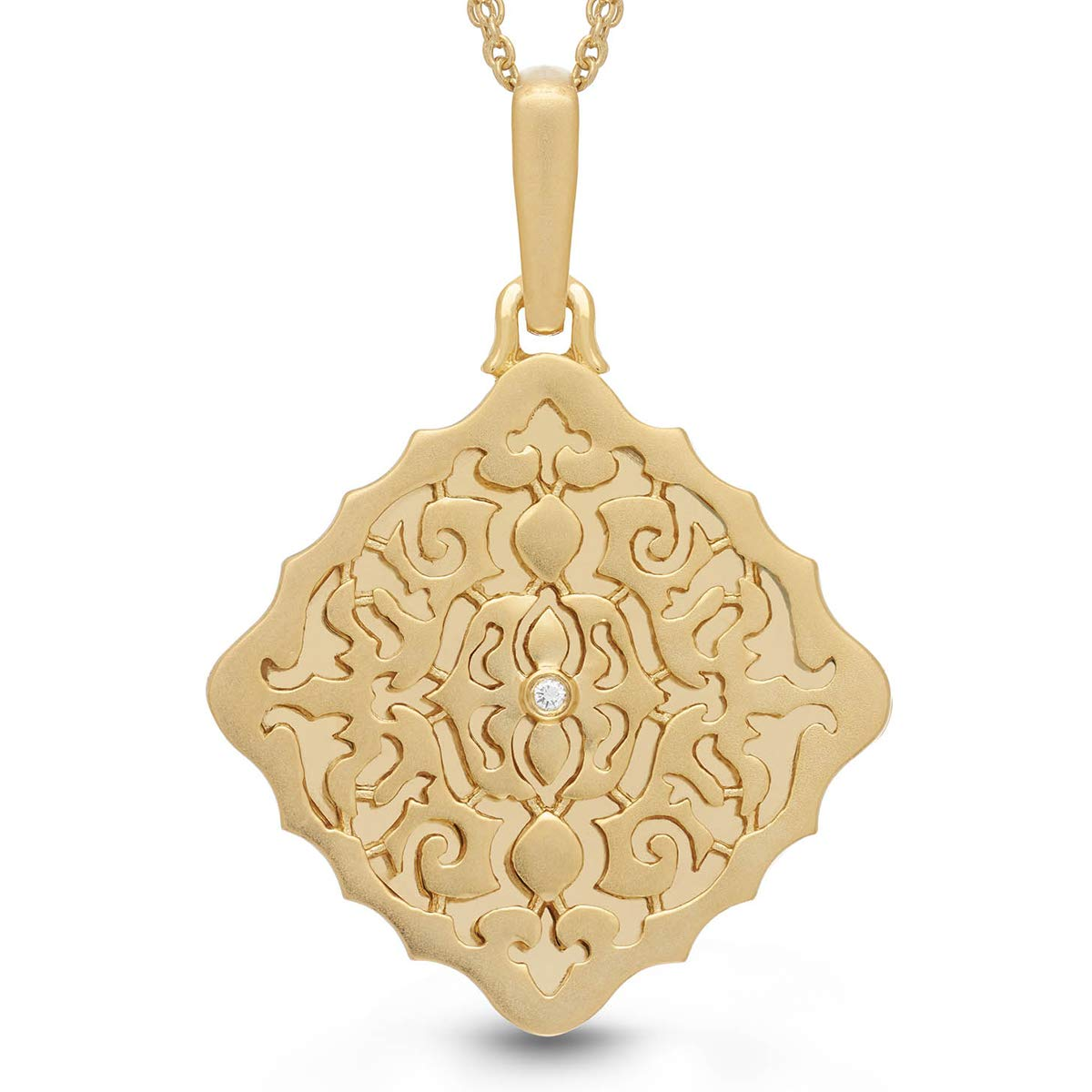 With You Lockets-Fine Yellow Gold-Custom Photo Locket Necklace-That Holds Pictures For Women-The Mimi