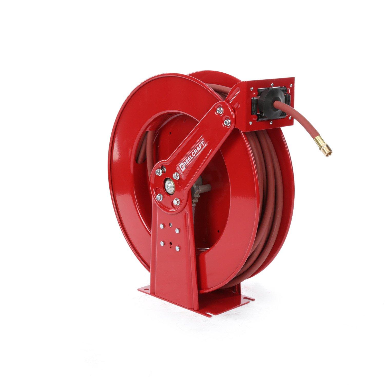 Reelcraft Hose Reel - Holds 3/4in. x 50ft. Hose, Spring Retractable, Model# 83050 OLP