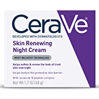 CeraVe Night Cream for Face | 1.7 Ounce | Skin Renewing Night Cream with Hyaluronic...
