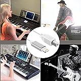 Lighting to MIDI cable for PhoneX, Phone8/8Plus/7/7 Plus/6/6PluS/6s/ 6sPlus /5s/SE/Pad/Pod, Interconnect Converter Midi Keyboard, Audio interface, USB microphone