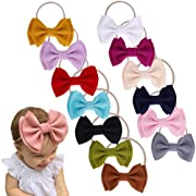 Baby Nylon Knotted Headbands Girls Head Wraps Newborn Infant Toddler Hairbands and Bows (Multicoloured ASPS620)