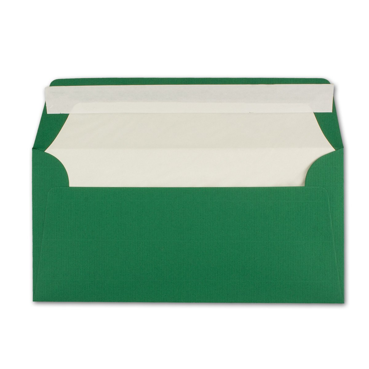 150 Brief-Umschläge DIN DIN DIN Lang - Dunkel-Grün - gefüttert mit weißem Seiden-Papier 110 g m² - 110 x220 mm - Haftklebung - Qualitätsmarke  NEUSER FarbenFroh B01MXG1BY1 | Geeignet für Farbe  4b0154