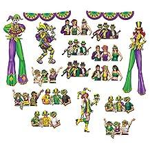 Beistle 52047 Mardi Gras Reveler Props