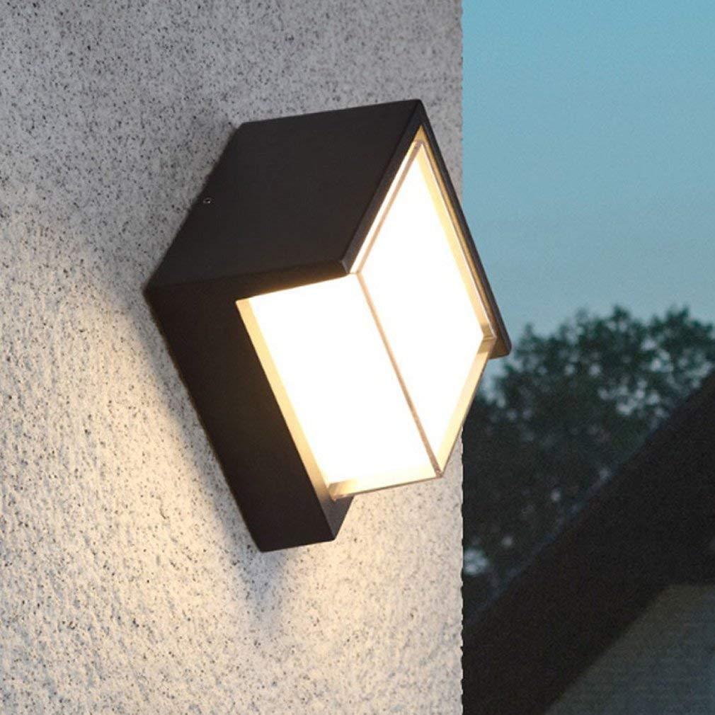 JZMB Moderne LED Wandleuchte Design Kreative Schwarze Wandbeleuchtung Wohnzimmer Esszimmer Schlafzimmer Kopfteil Halle Wandleuchte Aluminium Dekorative Außerhalb Innenbeleuchtung D16cm 10W Warmes Lich