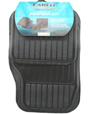 Carfit 4561001 Perfect Fit Rubber Car Floor Mat 4 Piece Set, Black, Set of 2