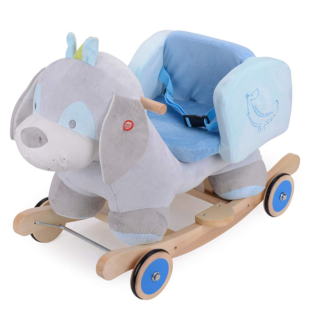FJH Schaukelpferde Schaukelpferd kinder Hölzernes Pferdemusik Schaukelstuhl Baby Geschenk Spielzeugauto 65  35  44 cm (Farbe   C) C