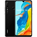 "Huawei P30 Lite (128GB, 4GB RAM) 6.15"" Display, AI Triple Camera, 32MP Selfie, Dual SIM Global 4G LTE GSM Factory Unlocked MA"