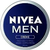 NIVEA Men Crème For Face, Body and Hands (150mL), NIVEA Moisturizer for All Skin Types, Face Cream, Hand Cream, Carefully Cra