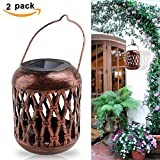 Solar Lantern Outdoor, Derlights 4Pack Hanging