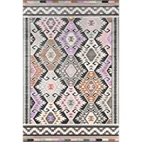 Novogratz Terrace Collection Boho Holiday Indoor/Outdoor Area Rug, 23 x 76 Runner, Multicolor