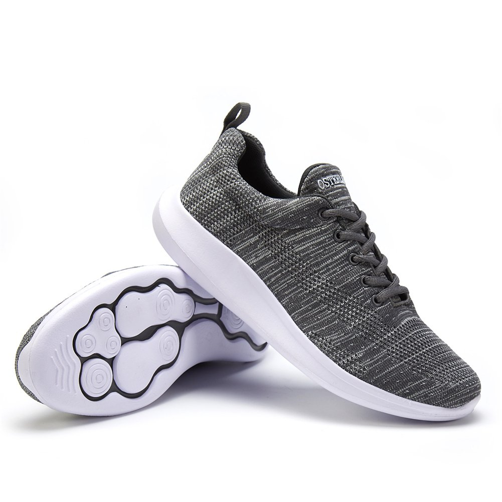 OSTERLAND Mens Womens Running Shoes Walking Sneakers EUR 38 / 6 / 6.5 US Men = 8 US Women Grey