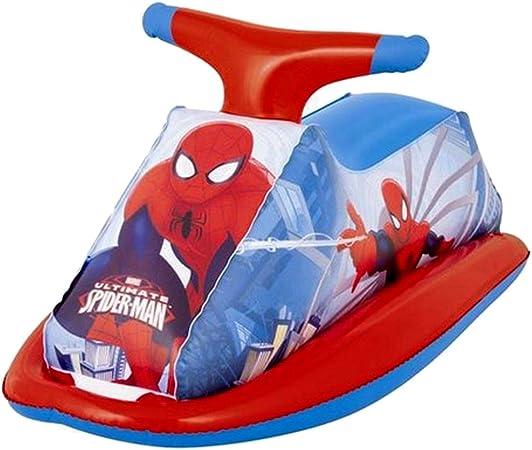 Dabuty Online, S.L. Moto Hinchable de Piscina Jugete Diseño Spider Man. Tamaño 89 x 46 cm.: Amazon.es: Hogar