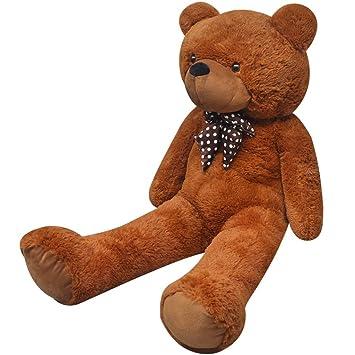 vidaXL Oso de peluche XXL, 175 cm, Marrón juguete muñeca enorme suave infantil