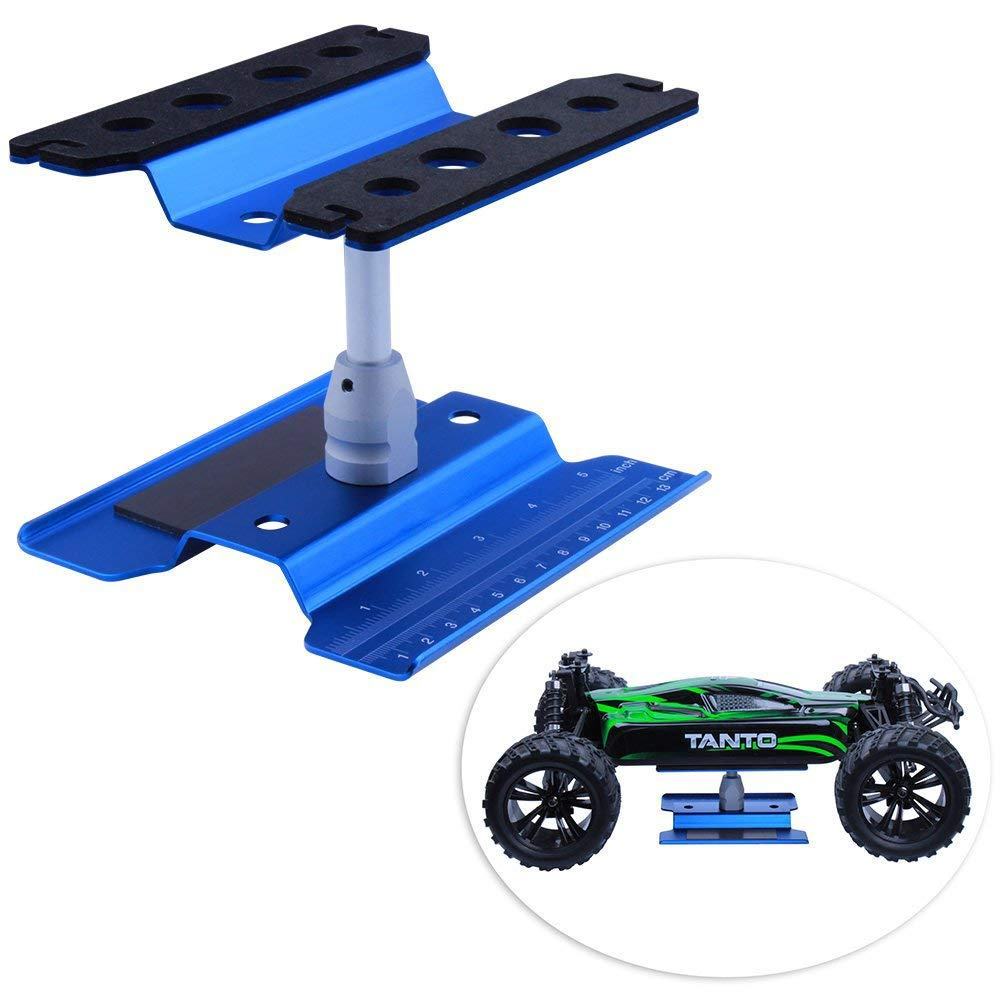 Fashionwu Work Stand Repair Workstation 360 Degree Rotation Lift/Lower Work Platform for 1/8 1/10 Scale RC Cars Trucks Buggies TRX4 SCX10 D90 General Blue by Fashionwu (Image #8)