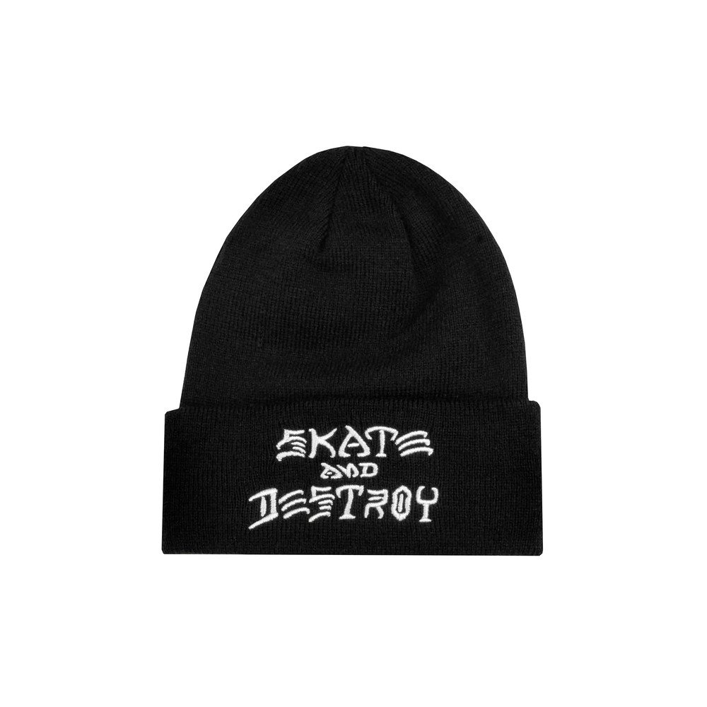f7541a2d071 Thrasher Magazine Skate And Destroy Beanie Hat Black  Amazon.co.uk  Clothing