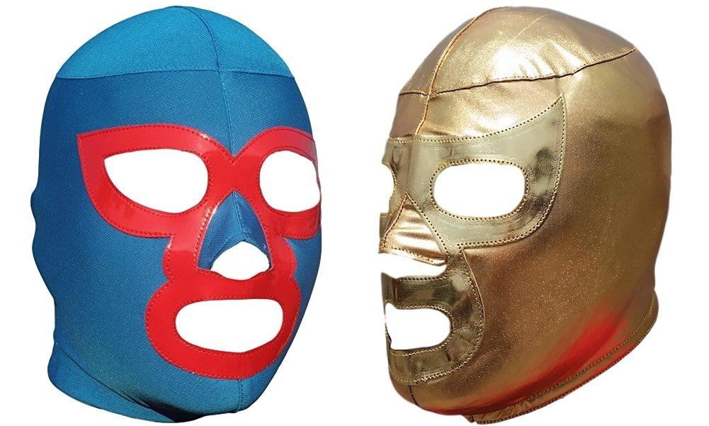Deportes Martinez Nacho Libre & Ramses Combo Lycra Lucha Libre Luchador Wrestling Masks Adult Size by Deportes Martinez