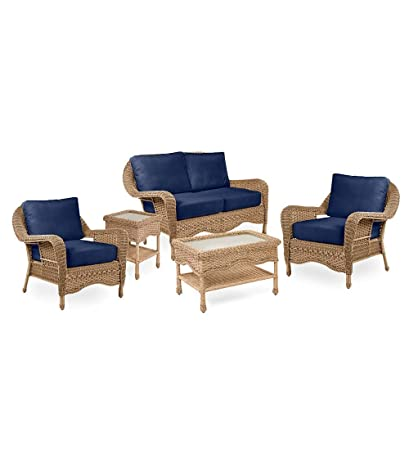 Enjoyable Amazon Com Prospect Hill Outdoor Patio Deep Seating 5 Creativecarmelina Interior Chair Design Creativecarmelinacom