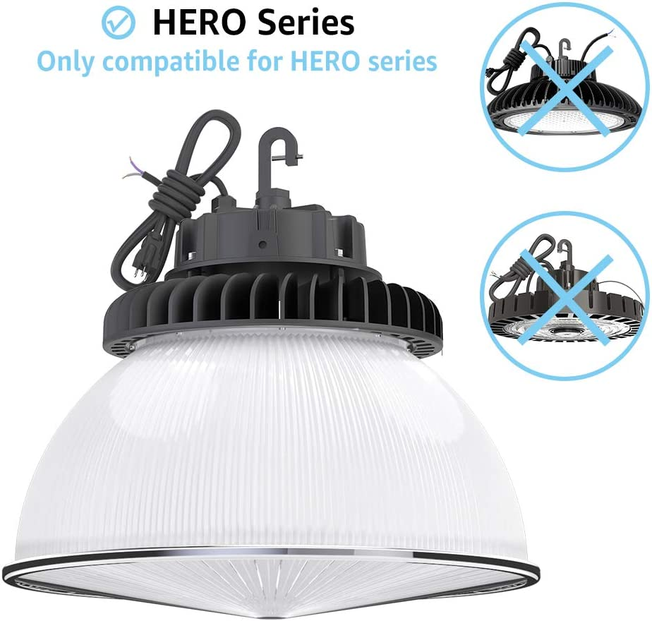 2-Pack Clear with Cover HYPERLITE 60 Degree PC Reflector ONLY for Hero Series LED High Bay Light