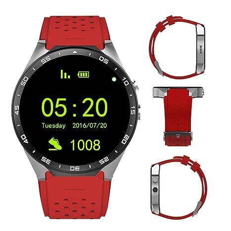 Reloj inteligente 3G, teléfono celular Bluetooth todo en uno Smart Watch Android 5.1 OS,